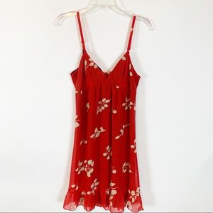 Johnny Martin Red Floral Dress Size 7